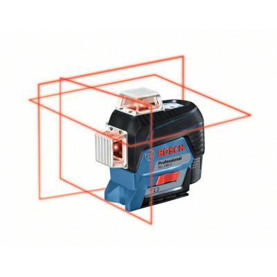 BOSCH Linjelaser GLL 3-80 C med batteri & tilbehør