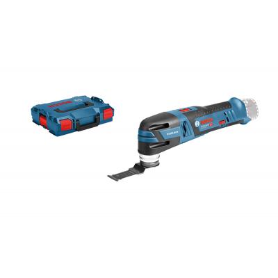 Bosch Multi-Cutter GOP 12V-28 i L-BOXX med 2 x 12V 3Ah batterier & lader med Starlock blader & deltaslipesåle + 5 slipeark