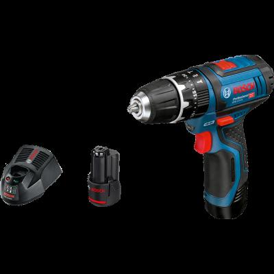Bosch kombimaskin GSB 12V-15 i pappeske med 2 x 1,5Ah batterier & lader