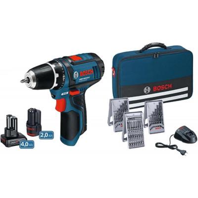 Bosch Skrumaskin GSR 10,8-LI Professional 2 & 4 Ah + Lader, batteri og Bag