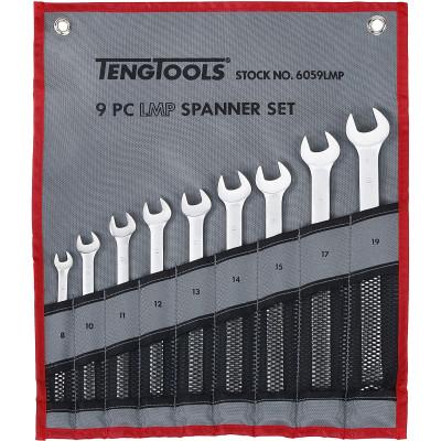 TengTools 9 deler MM mål Kombinasjonsnøkkelsett i verktøyfutteral 6059LMP