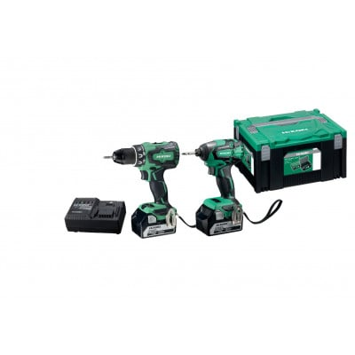 HIKOKI Verktøypakke 18V DS18DBSL(S) & WH18DBSL med 2 x 18V 5Ah batterier & lader