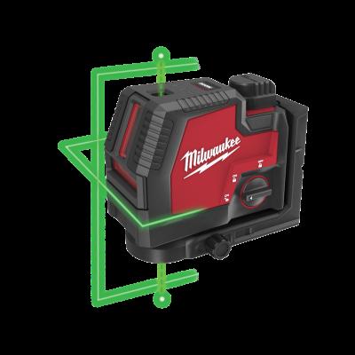 Milwaukee L4 CLLP Grønn Laser - Krysslinjer og Fokuspunkter i Koffert og REDLITHIUM™ USB batteri & lader Verktøy.no