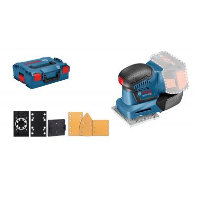 Bosch planslipere GSS 18V-10 Solo i L-BOXX med tilbehør verktøy.no