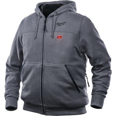 MILWAUKEE M12 VARMEHOODIE HHGREY3-0 XL