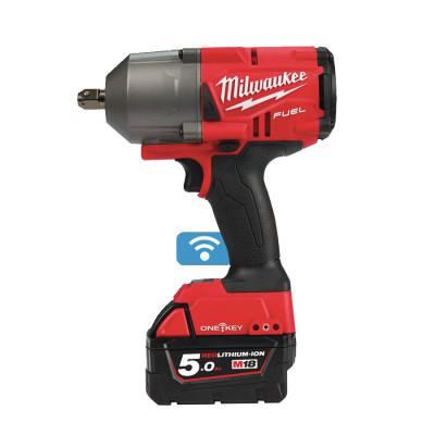 Milwaukee 18V muttertrekker ½″ med låsestift ONEFHIWP12-502X verktøy.no