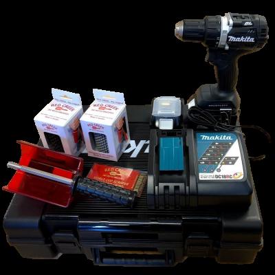 Makita Skipakke DDF484 med 3stk 5,0 Ah batterier og Red Creek børster