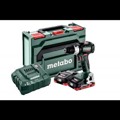 Metabo 18V LT BL bor-/skrutrekker i MetaBOX 145 med 2 x 18V 4Ah batterier & lader verktøy.no