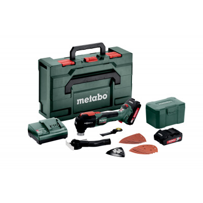 Metabo 18V Multikutter MT 18 LTX BL QSL i metaBOX med 2 x 18V 2,0Ah batterier & lader