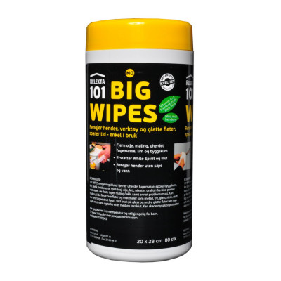 BIG WIPES 101 80 STORE KLUTER T599642 verktøy.no