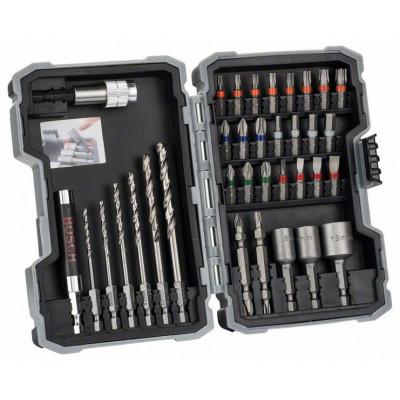 Bosch Extra Hard Metall HSS spiralbor og skrutrekkerbitssett, 35 deler verktøy.no