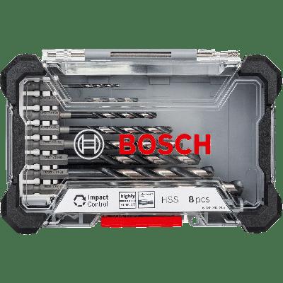 Bosch Impact Contral HSS med åtte deler