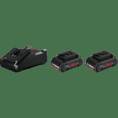 BOSCH Startsett ProCORE18V 4.0Ah (2 stk) + GAL 18V-40 Professional