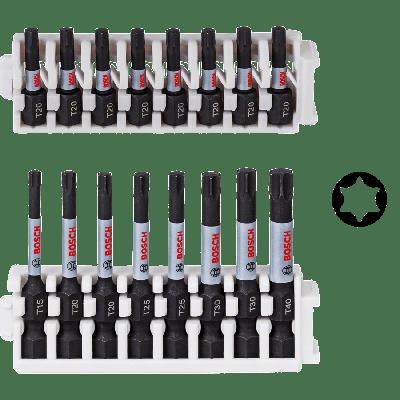 BOSCH Pick and Click Impact Control skrutrekkerbits, pakker
