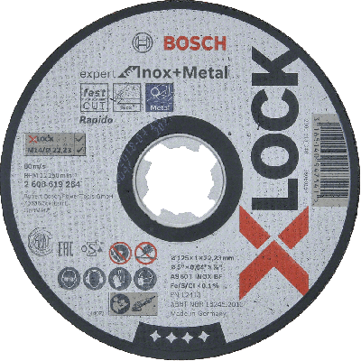 BOSCH X-LOCK Expert for Inox and Metal skjæreskiver