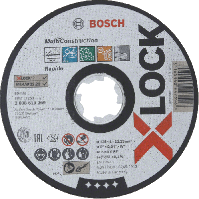 BOSCH X-LOCK Multi Construction skjæreskiver