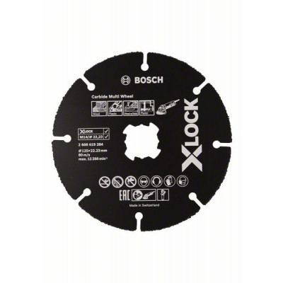 BOSCH X-LOCK Carbide Multi Wheel-kappeskiver