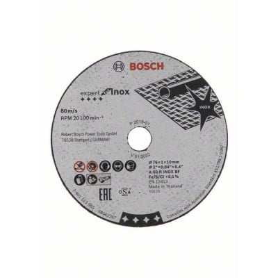 BOSCH Expert for Inox-kappeskiver 76mm 5 pakk
