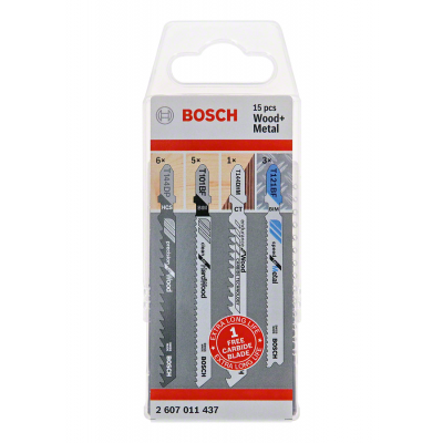 Bosch stikksagblad sett JSB 15-delers Wood and Metal pakke verktøy.no