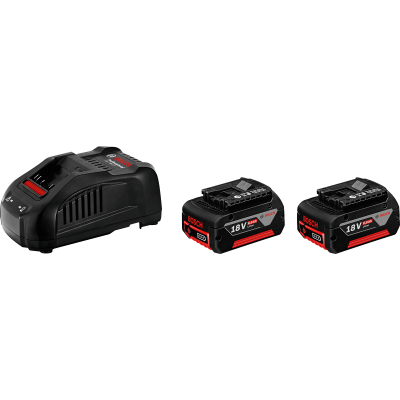 Bosch batterisett 2 x GBA 18 V 6,0 Ah M-C + GAL 3680 CV