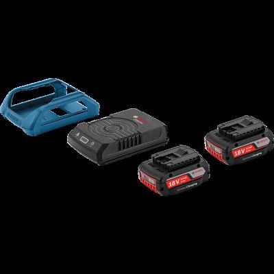 Bosch Startsett 2 stk. GBA 18V 3.0Ah W + GAL 1830 W Wireless Charging