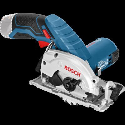Bosch batteridrevet sirkelsag GKS 12V-26 (Solo) i pappeske med parallellanlegg verktøy.no