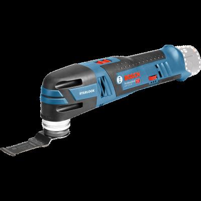 Bosch batteridrevet Multi-Cutter GOP 12V-28 Solo i pappeske med 1 x Starlock BIM dykksagblad verktøy.no