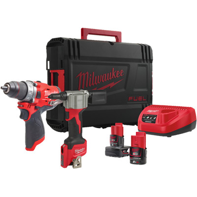 Milwaukee verktøypakke M12 FPP2S-422X verktøy.no