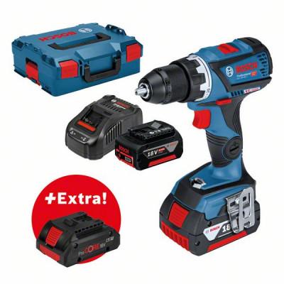 Bosch Bor-/skrumaskin for profesjonelle GSR 18V-60 C + 2 stk. 6,0 Ah batterier+ ProCORE18V 4.0Ah i L-BOXX