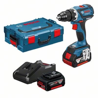 Bosch 18V bor- og skrumaskin GSR 18 V-EC i L-BOXX 136 med 2 x 5Ah batteri & lader verktøy.no