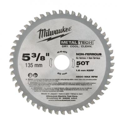 Milwaukee Sirkelsagblad til Aluminium (135x20x50T)