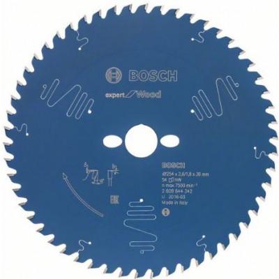 Bosch Sikrkelsagblad EX WO T 254 X 2,6 X 30mm 54T