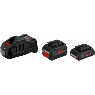 Bosch 18V startsett 1, ProCORE18V 4.0Ah, 1 x ProCORE18V 5.5Ah og GAL 1880 CV verktøy.no