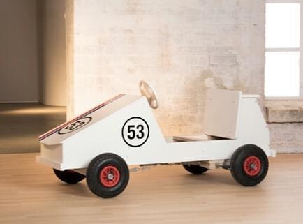 Tråbil for små racerbilførere